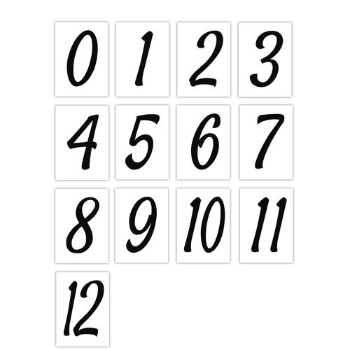 Number Sticker Pack - Black