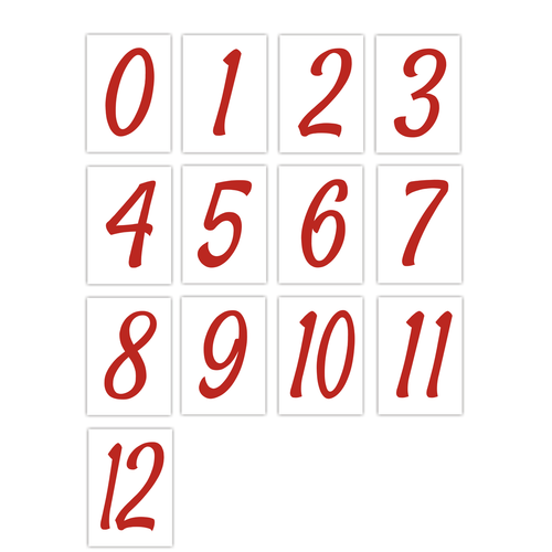 Number Sticker Pack - Red