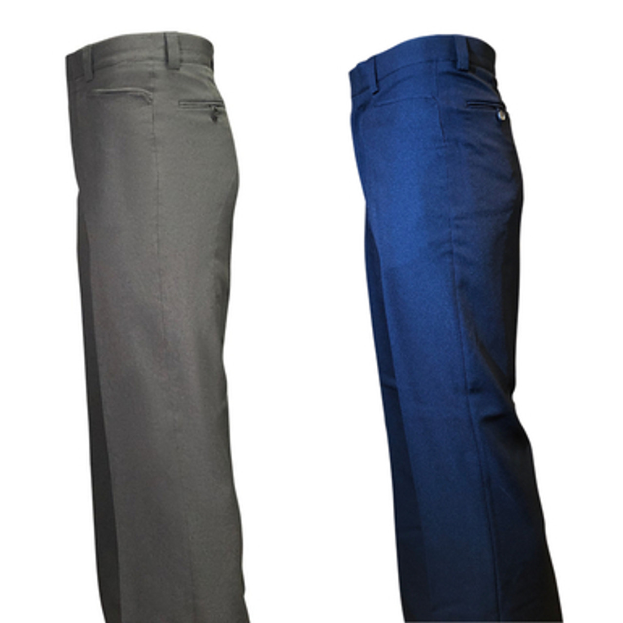 Black 100/% Polyester Flat Front Officials Pants with Western Cut Pockets and Belt Loops BKS-275 Smitty
