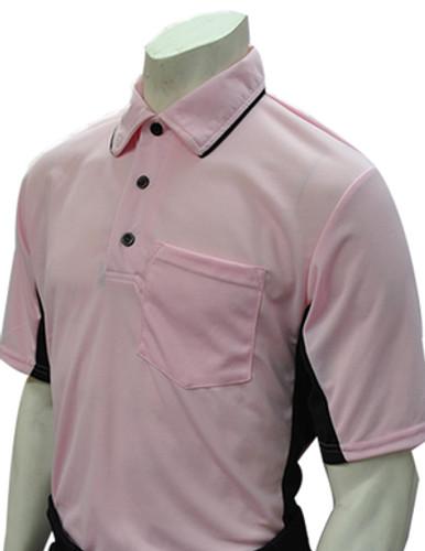 "Smitty ""MLB"" Pink Umpire Shirt w/Black Side Panel"
