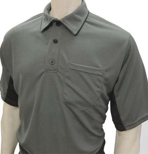"Smitty ""MLB"" Charcoal Umpire Shirt w/BK Side Panel"