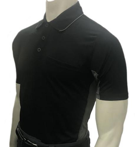 """MLB"" Body Flex Black Umpire Shirt w/CG Side Panel"