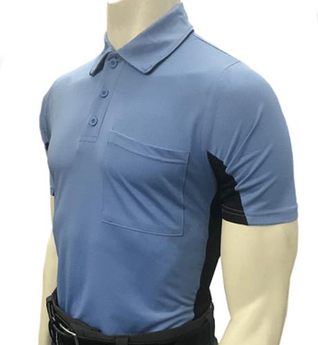 """MLB"" Body Flex Blue Umpire Shirt w/BK Side panel"
