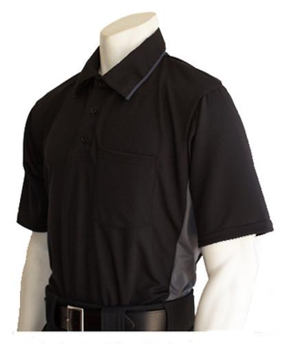 "Smitty ""MLB"" Black Umpire Shirt w/Grey Side Panel"