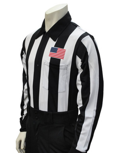 """Smitty L/S 2 1/4"""" Shirt with USA Flag on Chest"""