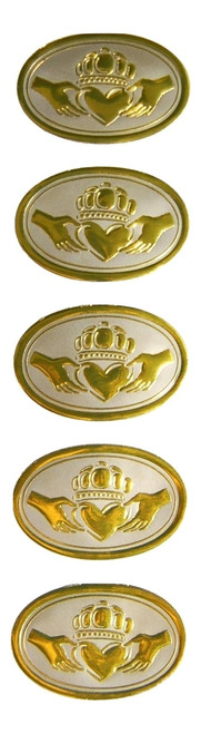 Our Claddagh seals have been a hit for many people. 50 seals per bag. USA