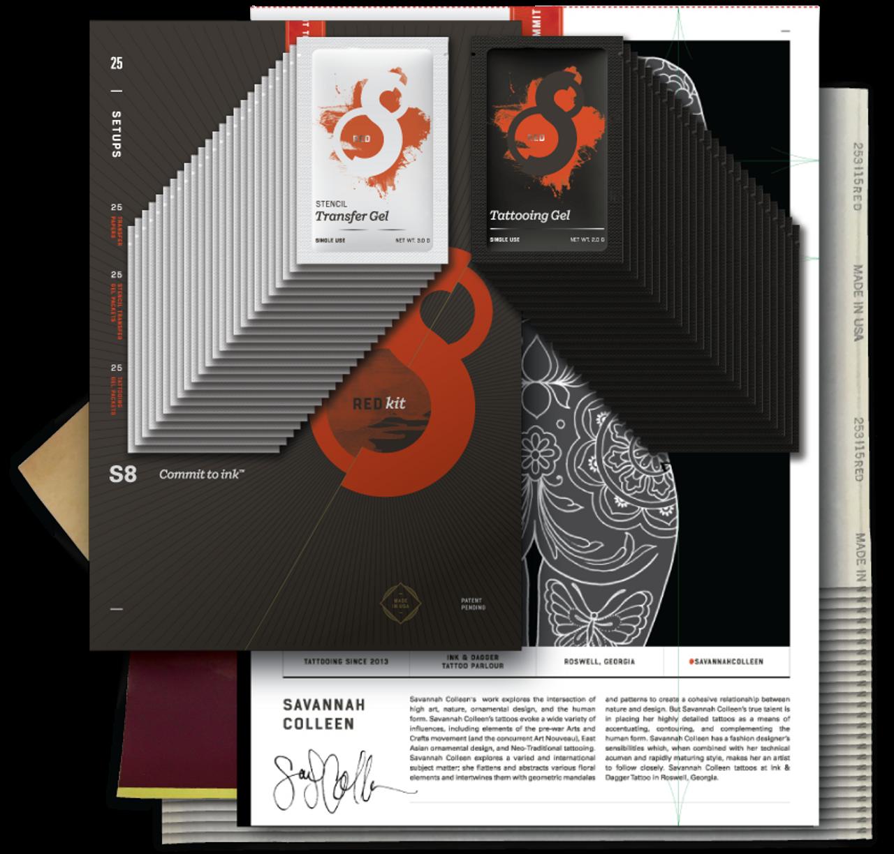 Red Tattoo Stencil Kit Ltd. Edition - Savannah Colleen - Tattoo ...