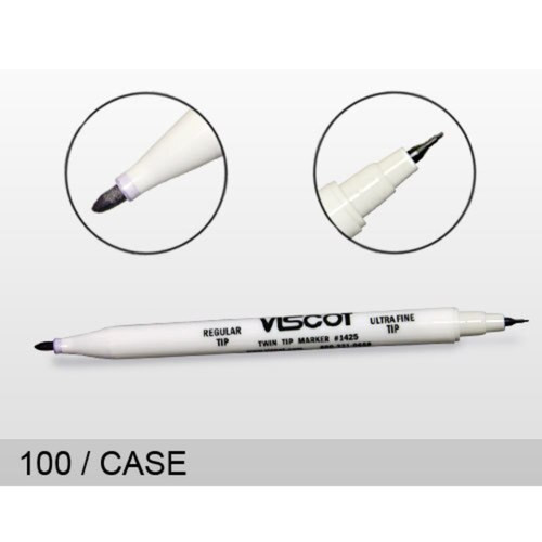 Viscot Traditional Skin Marker #1425 Twin tip - regular & Ultra fine NON STERILE