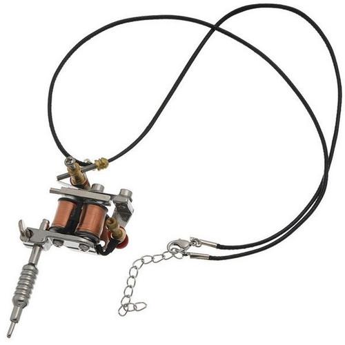 Mini Tattoo Machine Necklace Accessory