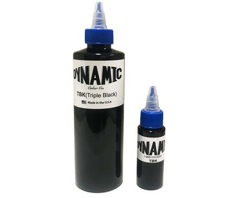 Dynamic Triple Black Tattoo Ink — 8oz Bottle -