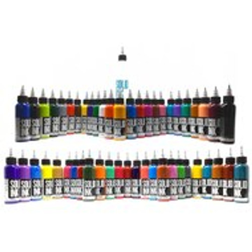 All of our colors are made with the highest quality organic pigments Solid Ink is easy to work with, super bright and heals solid They are very concentrated to ensure maximum color saturation
