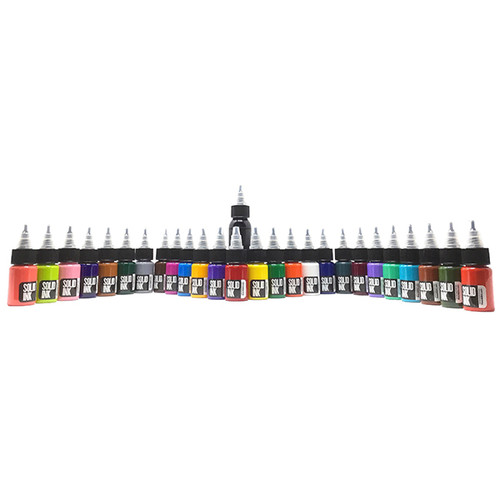 25 Colors Travel Set ( 24 half ounce + 1oz Lining Black )