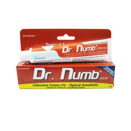 Dr Numb Lidocaine Cream Tattoo Express Supply