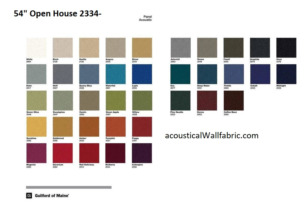 Open House 2334  Fabric Sample Card