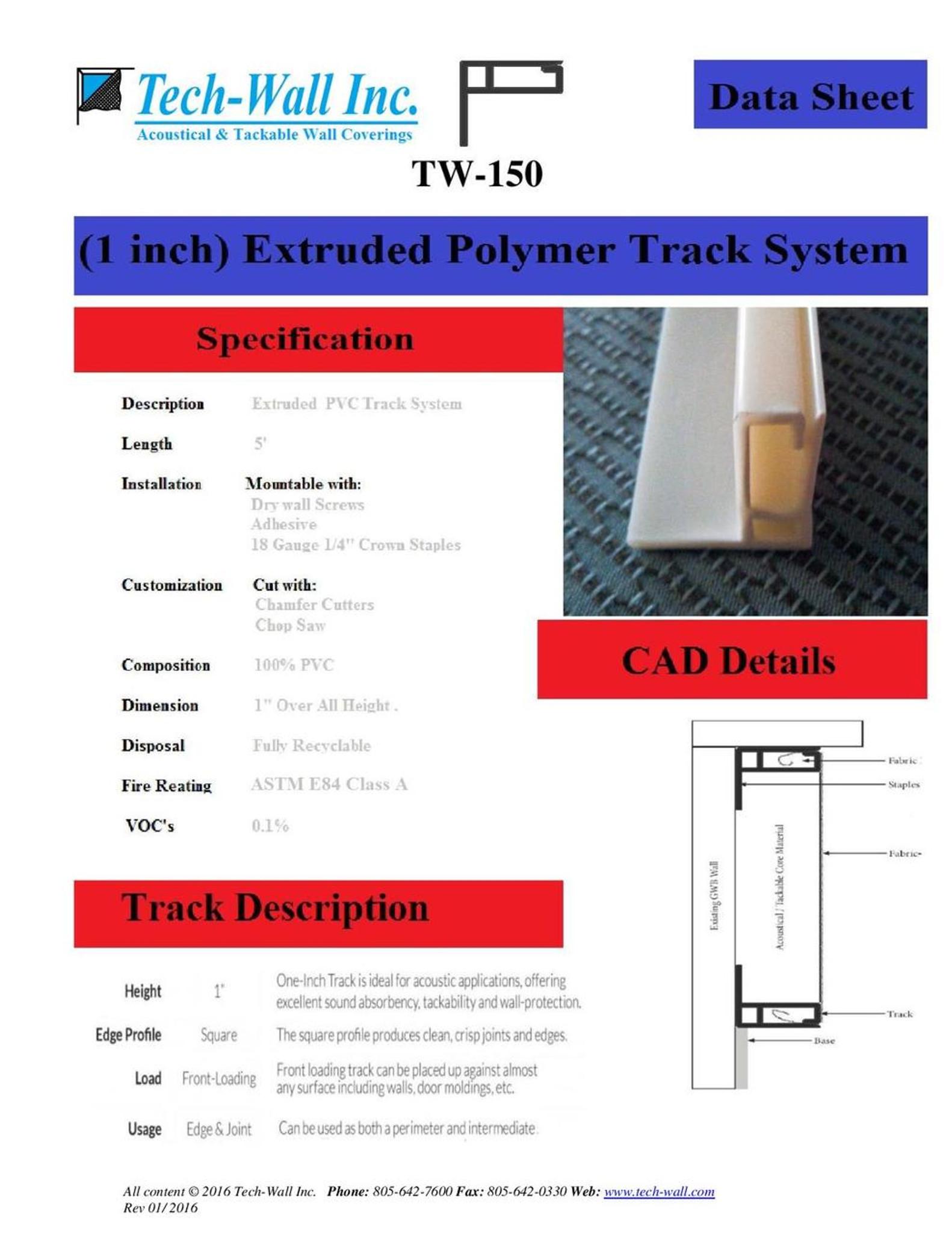 fabric wall track price