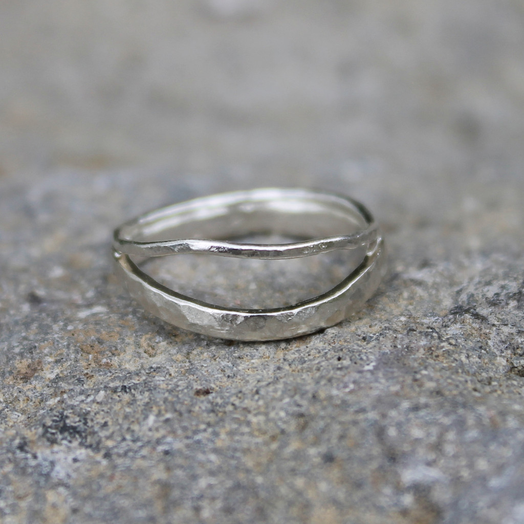 Delicate sterling silver stacking ring