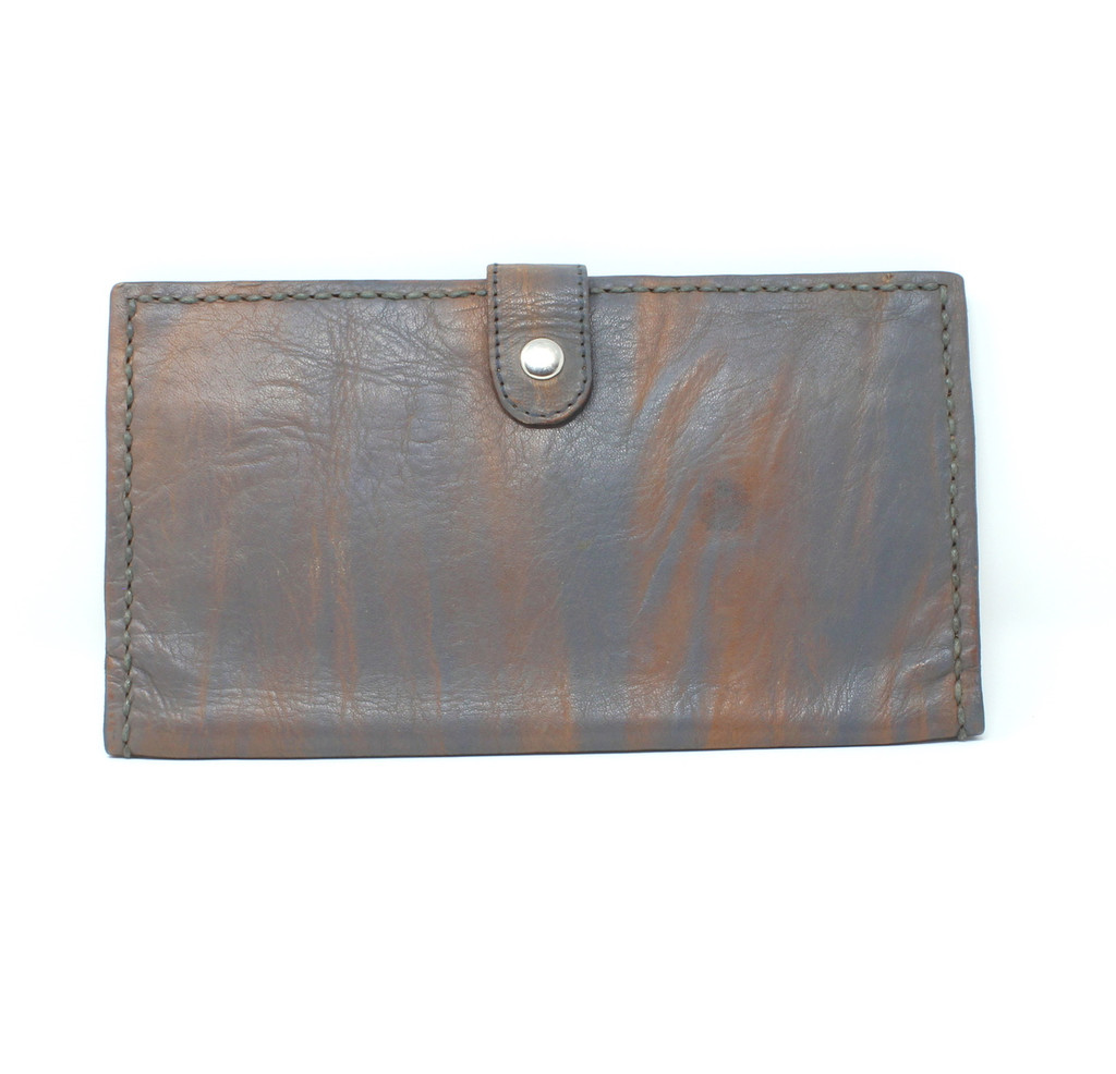 Imperfect - Ombre Leather  Wallet Grey