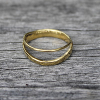 14 carat gold plated delicate sterling silver stacking ring