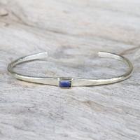 silver with lapis lazuli