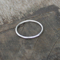 Thin stackable ring in sterling silver