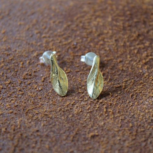 delicate brass stud earrings