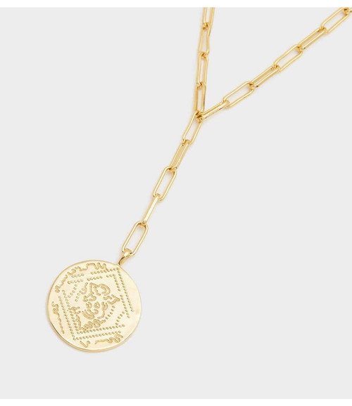 Ana Coin Lariat-Gold