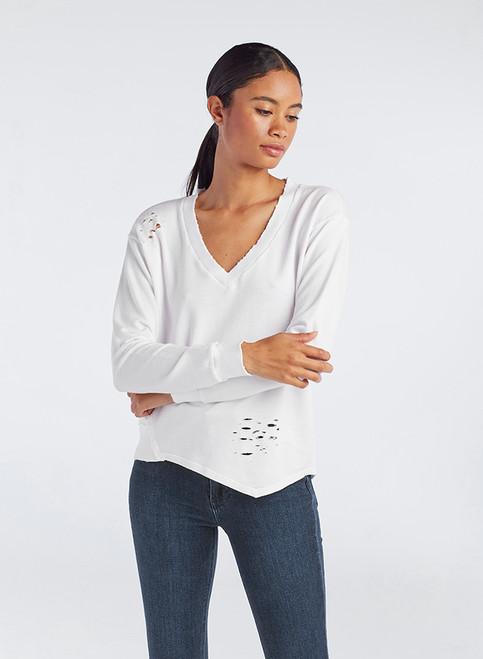 Asym V Neck Pullover