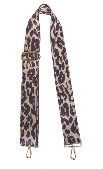 Animal Strap cream purple leopard