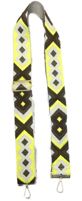 Aztec Bag Strap Brown Yellow Aztec