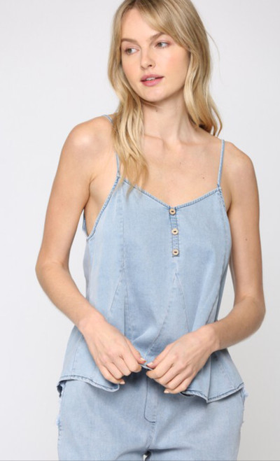 Chambray Strappy Top