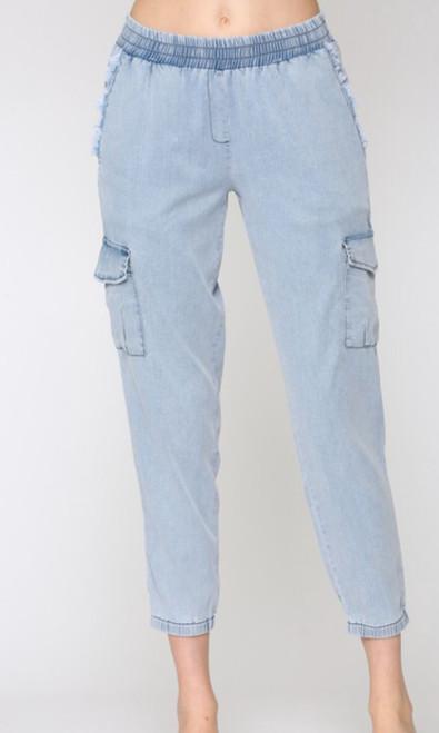 Chambray Cargo Pants