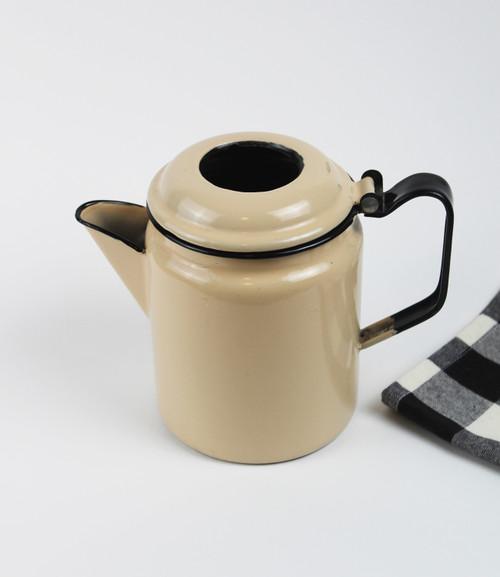 Enamel Coffee Pot - Beige