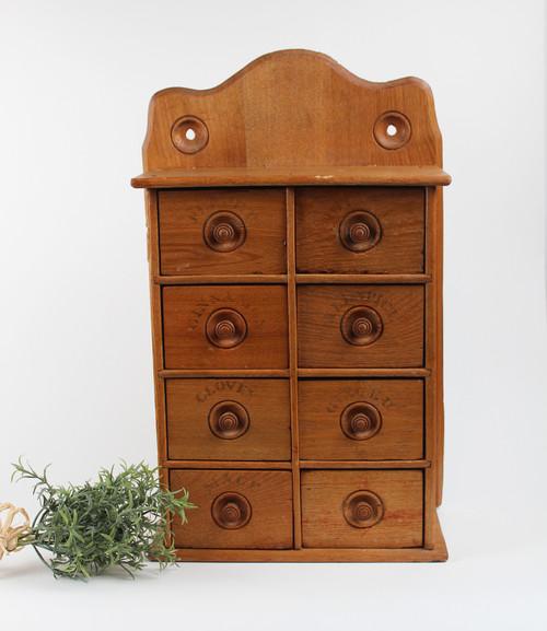 Vintage Spice Cabinet -Wooden