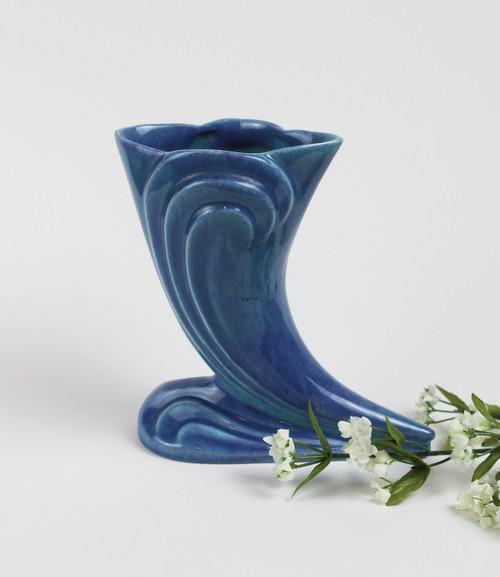 Blue Horn Vase - SOLD