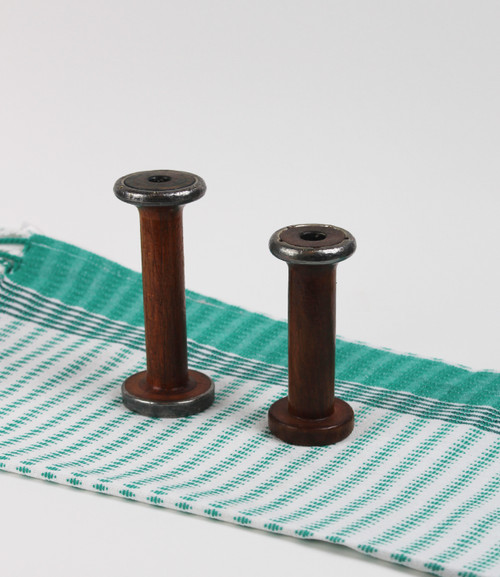 Small Wooden Spools -(2)