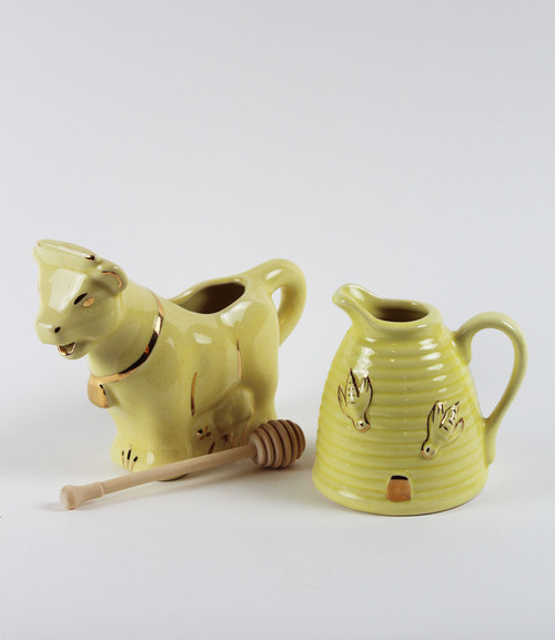 Cow Creamer & Honey Pot Gift Bundle