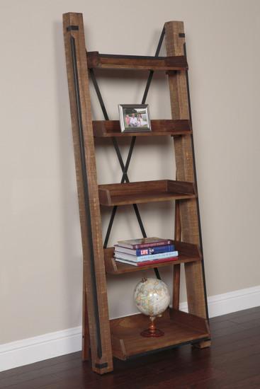 33200K Industrial Open Shelf Ladder Bookcase