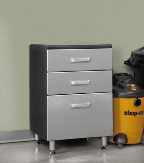 Tuff Stor Model 24216K Three Drawer Base Cabinet for Garage