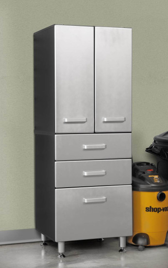Tuff Stor Model 24206 Garage Storage Cabinet with Two Doors and Three Drawers
