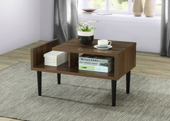 OS Home and Office Model 41300 Mid Century Modern Coffee Table with Wood Legs