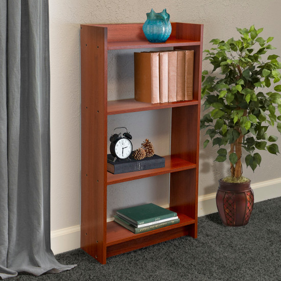 OS Home and Office Model 106067 Small 4 Shelf Student Bookcase, Cherry