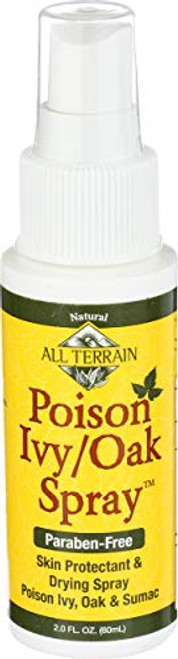 All Terrain Natural Poison Ivy/Oak Spray 2oz, Relieves Itching & Irritation, Dries Oozing & Weeping