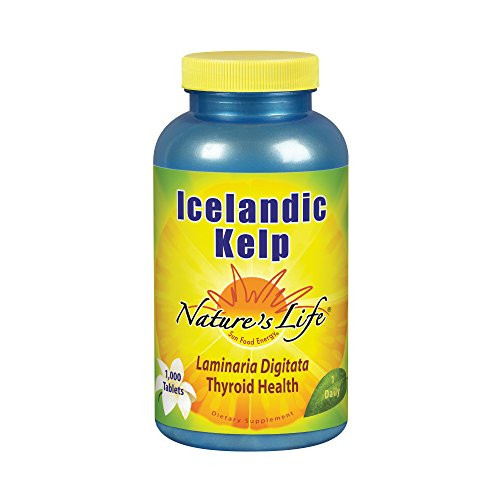 Nature's Life Kelp Tablets, Icelandic, 41 Mg, 1000 Count