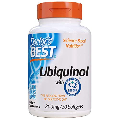 Doctor's Best Ubiquinol Featuring kaneka qh, Non-GMO, Gluten Free, Soy Free, Heart Health, 200 Mg, 30 Softgels