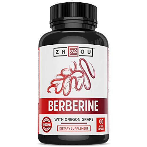 Zhou Nutrition Berberine with Oregon Grape for Healthy Fat Metabolism & Ketone Synthesis, 60Count
