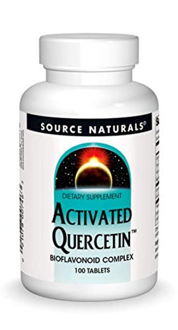 Source Naturals Activated Quercetin - Plant-Derived Bioflavonoid Complex - Seasonal & Immune Defense - 100 Tablets Vegetarian Friendly