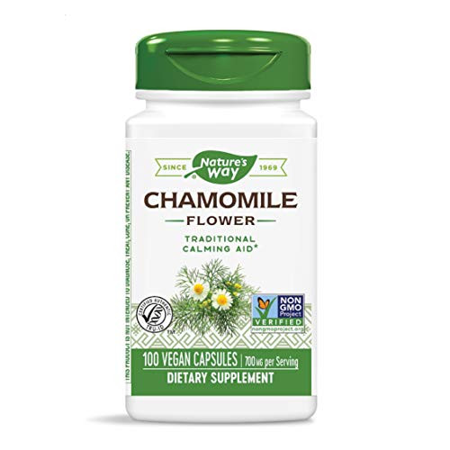 Nature's Way Chamomile Flower, 700 mg per serving, 100 Capsules (Packaging May Vary)