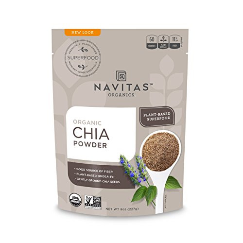 Navitas Organics Chia Seed Powder, 8oz. Bag, 19 Servings — Organic, Non-GMO, Gluten-Free
