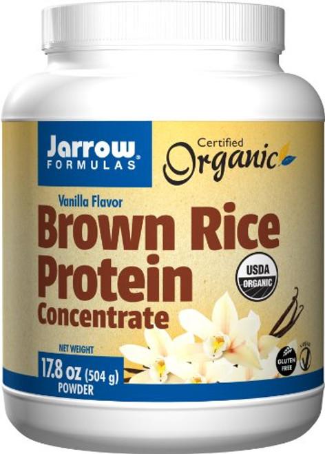 Jarrow Formulas Brown Rice Protein Concentrate, Sports Nutrition, Vanilla Flavor, 17.8 Ounce