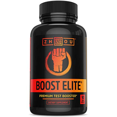 Zhou BOOST ELITE Test Booster   Formulated to Increase T-Levels & Energy   30 Servings, 90 Veggie Caps